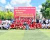 Đội Công ty CPTM Bia Sài Gòn Sông Tiền vô địch Giải bóng đá giao lưu Bia Sài Gòn Vĩnh Long