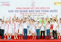 Đài Truyền hình Việt Nam đăng quang VCK Giải bóng đá Các cơ quan báo chí toàn quốc - Press Cup 2019
