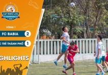 Highlights: FC BA BIA - vs - FC TRẺ THÀNH PHỐ | Vòng 1 - CUP MẠNH LINH 2020