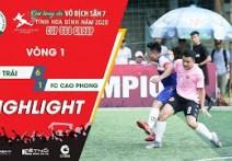 Highlights: FC BỜ TRÁI - FC CAO PHONG | Vòng 1 - HBL S1 2020