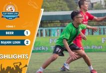 Highlights: FC BEER - vs - FC MẠNH LINH | Vòng 1 - CUP MẠNH LINH 2020