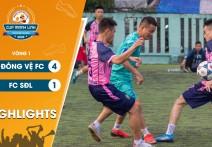 Highlights: ĐÔNG VỆ FC - vs - FC SĐL | Vòng 1 - CUP MẠNH LINH 2020