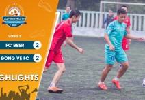 Highlights: FC ĐÔNG VỆ - vs - FC BEER. | Vòng 2  - CUP MẠNH LINH 2020