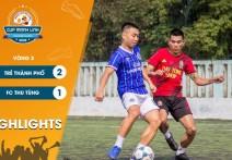 Highlights: TRẺ THÀNH PHỐ - vs - FC THU TÙNG | Vòng 3 - CUP MẠNH LINH 2020.