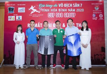 Lễ ra mắt  giải và bốc thăm Giải bóng đá Vô địch sân 7 tỉnh Hòa Bình – Cup 568 Group (HBL – S1)