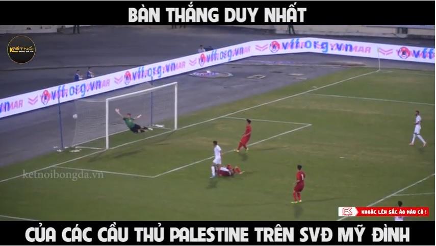 Bàn thắng của các cầu thủ U23 Palestine trước U23 Việt Nám từ góc khán đài