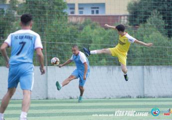 Vòng 2 – Giải bóng đá Vĩnh Phúc League 2018: Sức mạnh tuyệt đối của các ứng viên vô địch