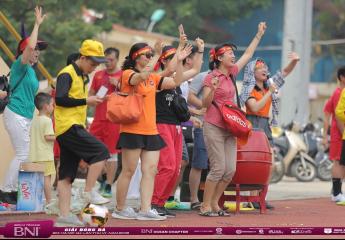 Khai mạc giải bóng đá BNI Hà Nội 1&2 lần thứ VII – năm 2019: Các Giám đốc thể hiện tài năng trên sân bóng phủi.