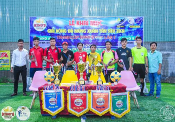 Bế mạc giải bóng đá Mừng Xuân Tân Sửu 2021 - Tranh Cup King's Sport