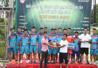 CHUNG KẾT TRONG MƠ   Giải bóng đá hạng Nhì Sơn Tây 2018