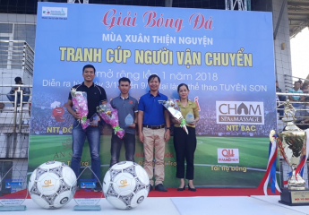 Khai mạc giải bóng đá Mùa Xuân Thiện Nguyện - Tranh Cúp Người Vận Chuyển lần thứ 1 năm 2018