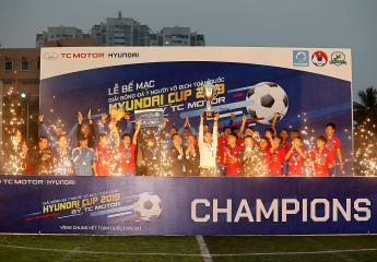 Bế mạc giải bóng đá 7 người vô địch toàn quốc Hyundai Cup 2019 by TC Motor(VPL-S1): EOC trở thành nhà vua bóng đá 7 người Việt Nam