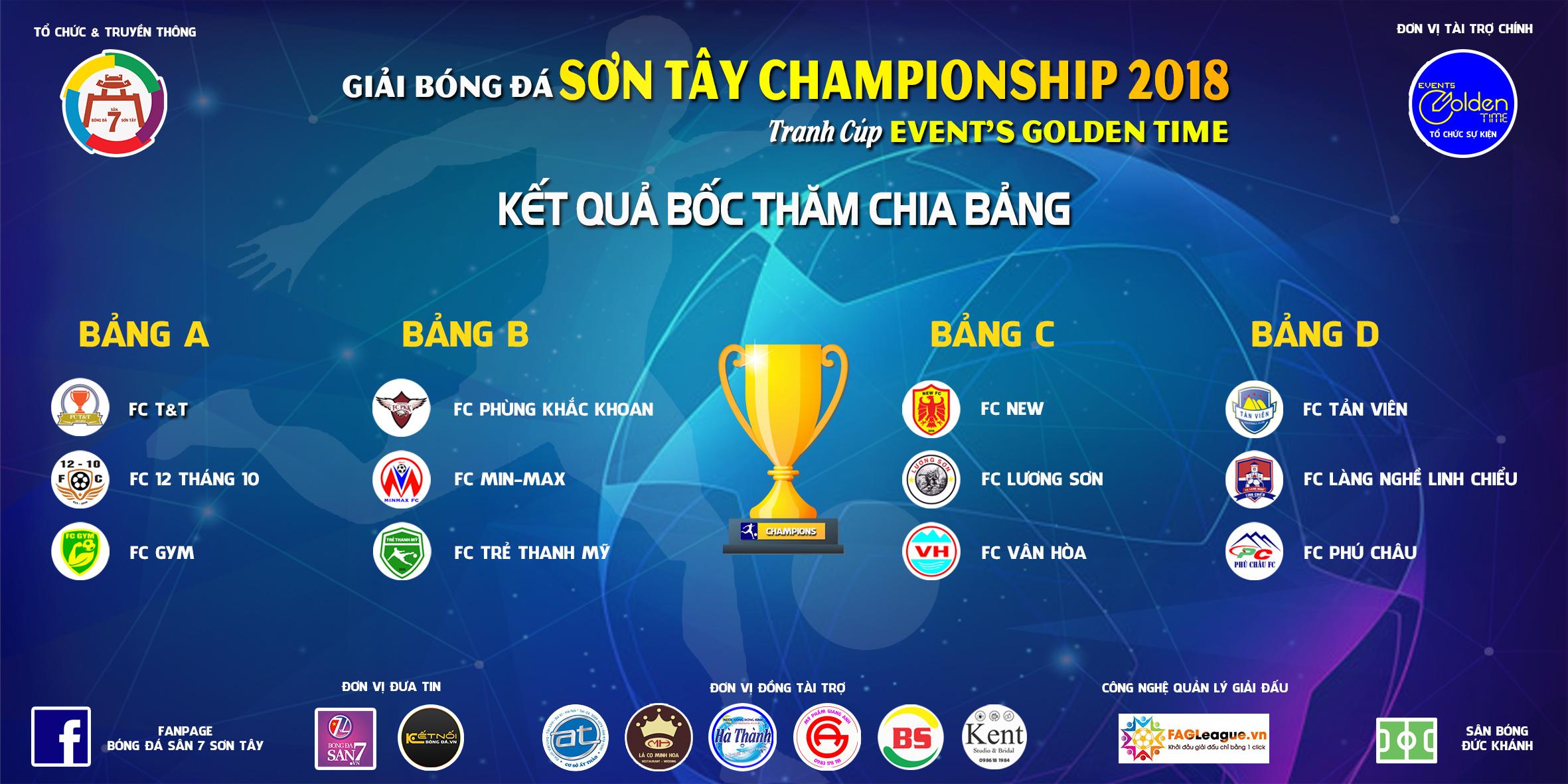 Kết quả họp báo và bốc thăm giải bóng đá SONTAY CHAMPIONSHIP 2018